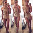 Womens Strappy Bodysuit Bralet Plunge White Black Ladies Sexy Vest Tank Body Top
