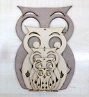 LASER CUT OWL VARIOUS SIZES 3mm MDF. Card making crafts, home decor top hole