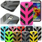 For Samsung Galaxy S5 Double Layer Hard Soft Matte Case Cover Silicone New