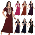 WOMENS 100% COTTON NIGHTIE NIGHTDRESS CHEMISE EMBROIDERY DETAILED SIZE 14-22