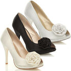 WOMENS WEDDING EVENING SANDALS BRIDAL PROM SHOES SIZE