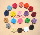 3.5cm Handmade Felt Rose Flower Sewing Appliques craft corsage Hair Accessories