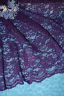 """Plum Bridal Wedding lace fabric-Sold/Priced by the 1/2yard-52"""" wide"""