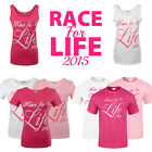 RACE FOR LIFE 2015 PLAIN T SHIRT VEST HANDWRITTEN GIRLS WOMEN LADIES UNISEX SXL