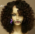 "14"" Brazilian Kinky Curly Human Hair Full/Front Lace Wigs Density 150%"