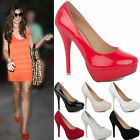 NEW  LADIES WOMENS PLATFORM PARTY HIGH HEELS STILETTO COURT SHOES PUMPS SIZE 3-8