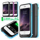 2015 6000mAh External battery Power Bank Charger Case for iPhone 6 Plus 5.5""