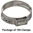 Stainless Steel Oetiker 1 Ear Stepless Marine Auto Crimp Clamp Ring, All Sizes
