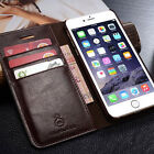 Genuine Leather Wallet Flip Case Cover for iPhone & Samsung New Flip