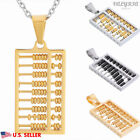 VALYRIA Men's Women's 316L Stainless Steel Fashion Abacus Pendant Necklace 22''