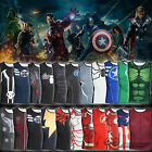 Men's Compression Sleeveless T shirts Superhero The Avengers Vest Jersey Tee Top