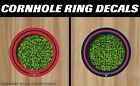 Atlanta Hawks Cornhole Ring Bag Toss Vinyl Full Color Hole Decals! +2FREE Decals