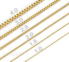 Mens Womens Gold Plated Chain 316 Stainless Steel Box Chain Necklace Gold Chain