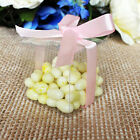 """25/50/100 Clear 2"""" 3"""" PVC Plastic Wedding Party Baby Shower Favor Craft Boxes"""