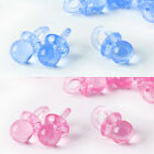100 Dummy Pacifier Charms Transparent Acrylic Baby Jewellery Clip Making