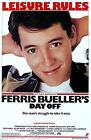 Ferris Buellers Day Off 1966 Film Canvas Wall Art Movie Poster Print Alan Ruck