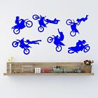 Motor Cross Freestyle Silhouette set 6 Wall Art Quality New Stickers.