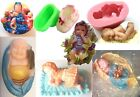 BABY SILICONE MOULD For Soap, candles: DIY Christening Baptism Shower YOU CHOOSE