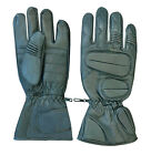 REAL SOFT LEATHER WINTER SKI BLACK GLOVES