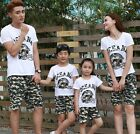 Family outfits woman girls man Boys sets Oceana camouflage t shirt+ pants 1sets