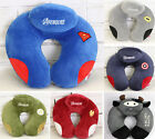 Avengers Heroes Cartoon Car Travel Neck Saver Head Rest U Pillow Support Cushion