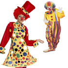 Adult Circus Clown Outfit Jester Halloween Costumes Harlequin Party Fancy Dress