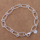 *UK* 925 SILVER PLT BRACELET / ANKLET / CHAIN LADIES STATEMENT GIFT GIRL WOMENS