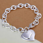 *UK* 925 Silver Plt Bracelet / Anklet / Chain Ladies Statement Gift Girl Womens <br/> OVER 2000 SOLD! MANY HAPPY CUSTOMERS! FREE POSTAGE!