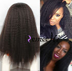 Malaysia Kinky straight 100% remy human hair full/front lace wig 150% density