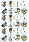 24 x MADAGASCAR ROUND BIRTHDAY FAIRY CUPCAKE TOPPERS WAFER CARD RICE PAPER