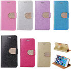 Luxury Wallet Flip Purse Leather Stand Skins Phone Cute Case Cover For iPhone