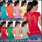 Ladies Top Sexy Summer Angel Wings Women's Casual T-Shirt One Size 6,8,10,12 UK