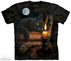 The Mountain THE WITCHING HOUR Black Cat Adult Men T-Shirt S-2XL Short Sleeve