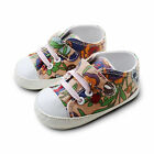 Baby girl first lovely flowers printed trainers soft smart crib pram shoes 0-18M