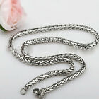 """Nice MENS Silver 3/4/5/6MM 18-36"""" Steel Spend orchid type Chain necklace"""