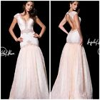 ANGELA  AND ALISON LILAC SHORT  SLEEVE  V NECK VINTAGE GOWN MSRP$688 LOW PRICEe