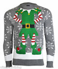 Noroze Mens Novelty Elf Joker Knitted Christmas 2015/16 Retro Sweater Jumper Top