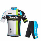 SANTIC Cycling Suits Short Jersey Short Sleeve & Shorts- Shark II Style New