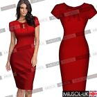 Ladies Women's Wiggle Vintage Dress Retro 40s Slim Fitted Bodycon Party Dresses