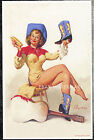 1960's Elvgren Authentic Pin-Up Poster Art Print Cowgirl Guitar Boots 11x17