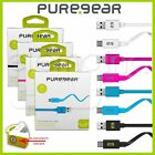 PureGear Charge-Sync FLAT Cable Cord for Any Compatible Micro USB Devices - NEW