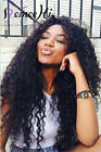 Aimee curly wavy 100% Brizilian remy human hair full/front lace wig 160% density