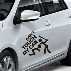 Don't Touch My Car Cool Funny personality reflective car stickers With Words