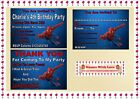 Spiderman Children's Birthday Party Invitations kids Party- Thank You Cards X 10