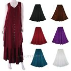 Women BOHO Gypsy Long Maxi Tiered Skirt 18 20 1X 2X