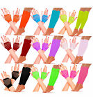Womens Neon Short Fishnet Gloves Legwarmers Hen Party 80s Disco Tutu Fancy Dress
