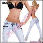 Sexy Womens Skinny Jeans Light Blue Slim Ladies Trousers Size 6,8,10,12,14 UK
