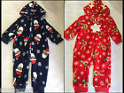 Baby Boys Girls Super Soft Warm Christmas Fleece Onesie,Babygrow,Sleepsuit,6-24m