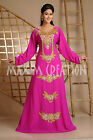 EXCLUSIVE DUBAI GEORGETTE ARABIAN JILBAB JALABIYA FANCY WEDDING GOWN DRESS 3606A