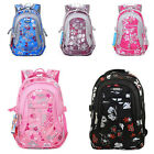 New Children's Canvas Flower Print School Bag Rucksack Boy/Girl Tour Backpacks